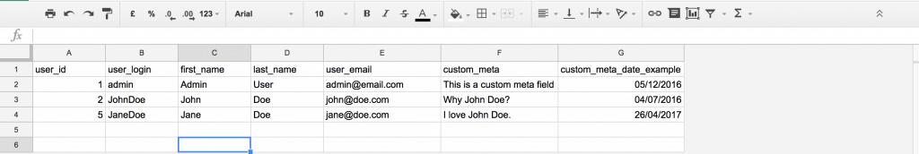 Google Sheets CSV Example Zapier Integration