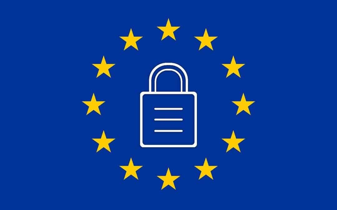 Image of EU flag with lock for GDPR