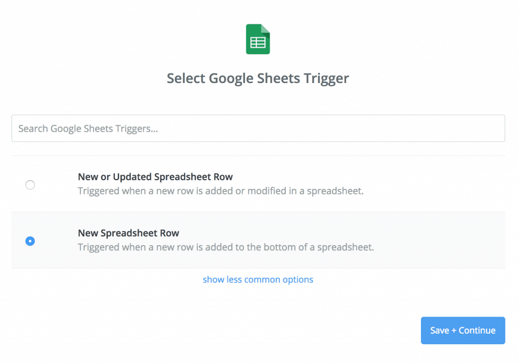 Select A Trigger In Zapier