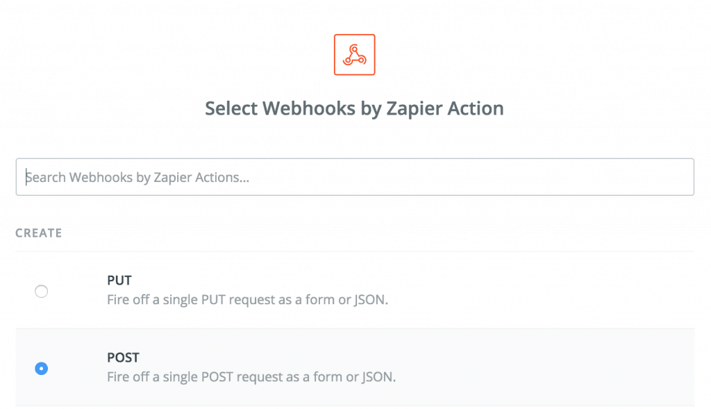 webhooks by zapier post action