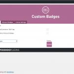 custom badges for woo global settings