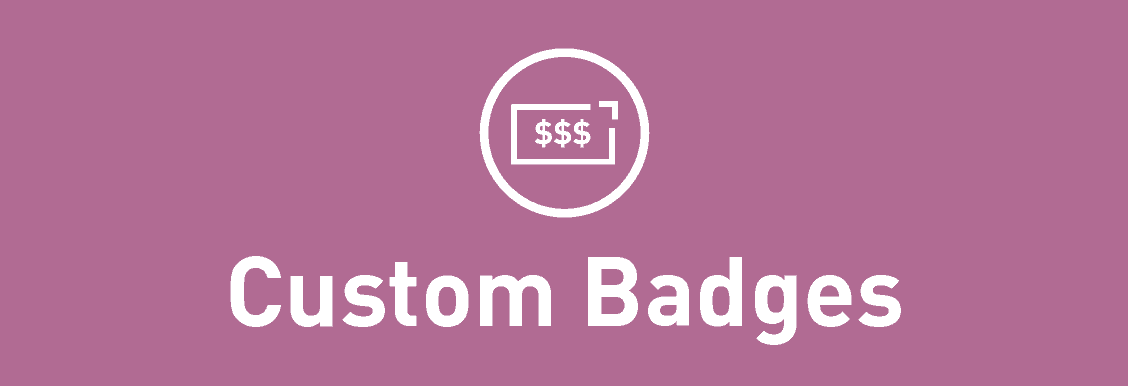 Custom Badges For WooCommerce Banner image.
